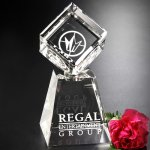 Awards In Motion Clear Optical Crystal Awards