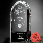 Cosmo Arch Clear Optical Crystal Awards