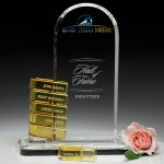 Biscay Goal-Setter Clear Optical Crystal Awards