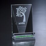 Cell Phone Holder Clear Optical Crystal Awards