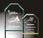 Beveled Clipped Corner Plaque Clipped Corner Awards