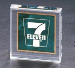 Emerald Marble Square Acrylic Paper Weight Colored Acrylic Awards