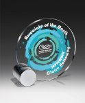Silver Geo Colored Acrylic Awards