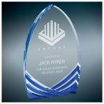 Blue Soaring Cathedral Acrylic Colored Acrylic Awards