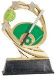 Softball Cosmic Resin Trophy Cosmic Resin Trophies