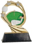 Golf Cosmic Resin Trophy Cosmic Resin Trophies