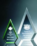 Beveled Peaks Acrylic Award Diamond Awards