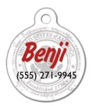Circle Pet Tag Dog Tags - Blank