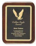 Rosewood Piano Finish Plaque Rounded Eagle Plaques
