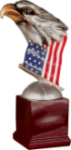Resin Eagle with Flag and Base Eagle Trophies