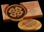R2706 - Coaster Set - Amber Bamboo Eco Friendly Awards