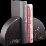 R2702 - Bookends - Amber Bamboo Eco Friendly Awards