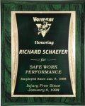 R2222 - Green with Green / Gold Engraving Plate Economy Plaques