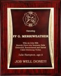 R2223 - Maroon with a Maroon / Gold Engraving Plate Economy Plaques