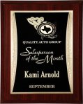 R2220 - Mahogany with a Black / Gold Engraving Plate Economy Plaques