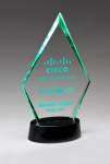 Clear Acrylic Award with LED Base  - 7 Colors Employee Awards