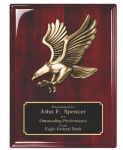 Rosewood Piano Finish Plaque with Eagle Casting Employee Awards