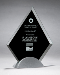 Diamond Series Glass Award with Silver Metal Base Employee Awards
