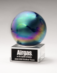 Metallic Prism-Effect Art Glass Globe Award Employee Awards