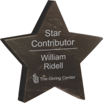 Black Marble Star Paperweight Employee Awards