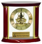 Exectutive Rosewood Piano Finish Clock Employee Awards