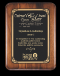 Rounded edge/corner Walnut Plaque Employee Awards