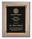 Silver Washed Oak Recognition Plaque Employee Awards