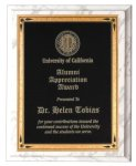 White Marble Finish Recognition Plaque Employee Awards
