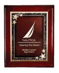 Rosewood Piano Finish Star Plaque Employee Awards
