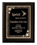 Black Finish Starburst Plaque Employee Awards