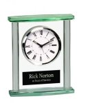 Rectangle Glass Desk Clock Executive Gift Awards