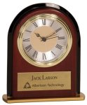 Mahogany Finish Arch Desk Clock Executive Gift Awards