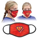 Custom Full-Color Face Mask-White with Black Trim Facial Covering