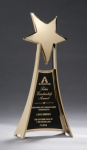 Star Casting Trophy in Gold Tone Finish Featured Items
