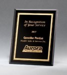 Black Glass Plaques with Gold Borders Glass Plaques