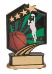 Basketball Resin Trophy Graphic Sport Resin Trophies
