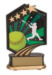 Softball Resin Trophy Graphic Sport Resin Trophies