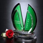 Flight Emerald Award Green Optical Crystal Awards