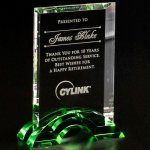 Greenbury Emerald Rectangle Green Optical Crystal Awards