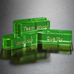 Goal-Setter Block - Green Green Optical Crystal Awards