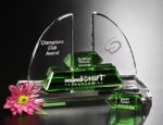 Radcliffe Goal-Setter Crystal Award Green Optical Crystal Awards
