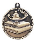 High Relief Lamp of Knowledge Medal High Relief Medallion Awards
