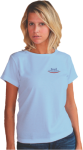 Short Sleeved Female Classic T-shirt with Left Chest Custom Imprinted Graph Imprinted Apparel