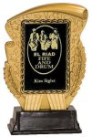 Gold & Black Rectangle Insert Holder Resin Award Insert Resin Trophies