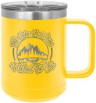 Polar Camel 15 Oz. Coffee Mug -Yellow Insulated Coffee Mugs