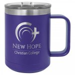 Polar Camel 15 Oz. Coffee Mug - Purple Insulated Coffee Mugs