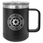 Polar Camel 15 Oz. Coffee Mug - Black Insulated Coffee Mugs