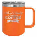 Polar Camel 15 Oz. Coffee Mug - Orange Insulated Coffee Mugs