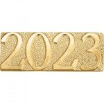 Gold Metal Chenille 2023 Insignia Pin Lapel Pins