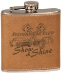 Leather Stainless Steel Flask Leatherette Gift Items